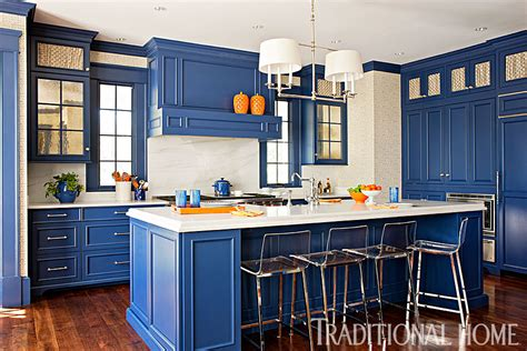 cobalt blue kitchen cabinets two tone kitchen design with shaker kitchen cabinets 5517