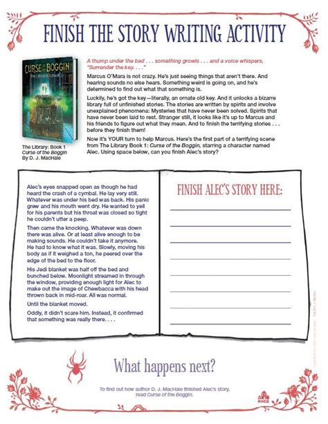finish  story writing activity based   curse