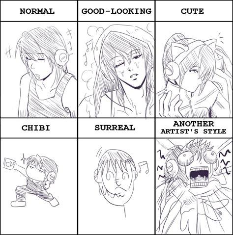 Drawing Meme - drawing style meme by u ji on deviantart