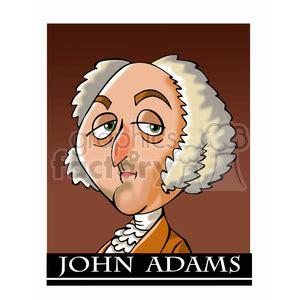 royalty  john adams color  vector clip art image