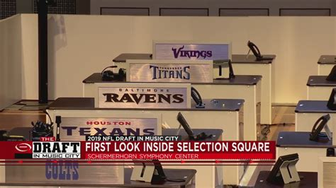 An inside look at 'Selection Square' where teams make ...