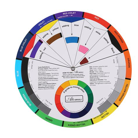 color mixing wheel atomus color wheel artist paint mixing guide color