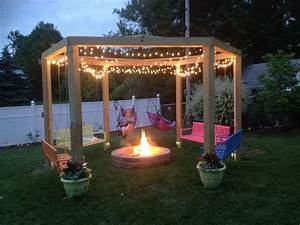 we love our fire pit swing gardening pinterest With 3 brilliant fire pit ideas for your house