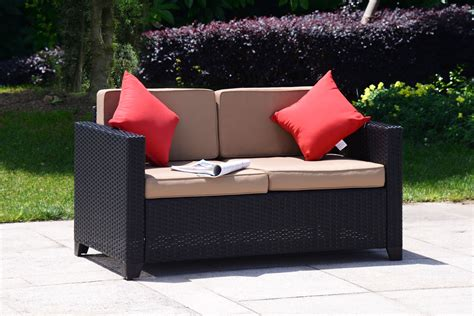 Outdoor Wicker Loveseat by Outdoor 2pc Patio Rattan Wicker Furniture Seat Bistro