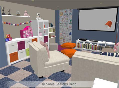 amenager chambre pour 2 filles projet client un sous sol aménagé en salle de jeux