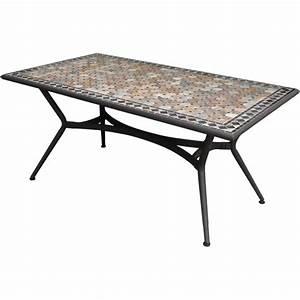 Table 6 Personnes : table de jardin marocco rectangulaire bronze 6 personnes leroy merlin ~ Teatrodelosmanantiales.com Idées de Décoration