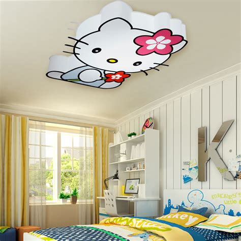 Modern Led Hello Kitty Cat Ceiling Lights Fixture Children