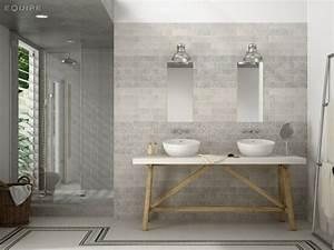 Salle De Bain Grise Et Bois : 101 photos de salle de bains moderne qui vous inspireront ~ Melissatoandfro.com Idées de Décoration