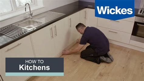 Floor Tile Ideas For Kitchen - how to fit a kitchen plinth pelmet and cornice with wickes