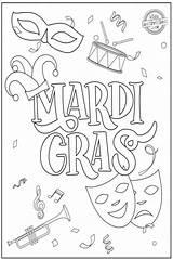 Mardi Gras Coloring Parade Crayons Grab Colorful Want Favorite sketch template