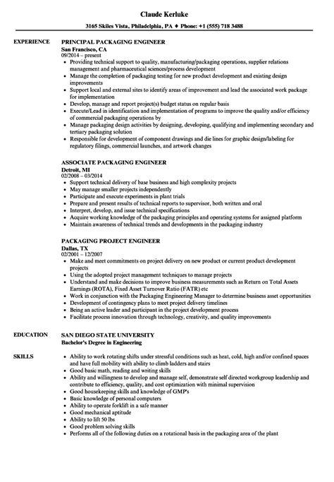 Resume For Packaging by Packaging Resume Sles Velvet