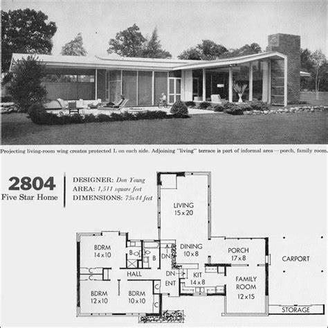 genius house plans mid century modern 1960 better homes gardens five homes design no