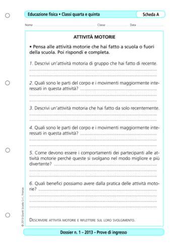 Test D Ingresso Storia Dell Arte by Prove D Ingresso Educazione Fisica Classi 4 5 La Vita