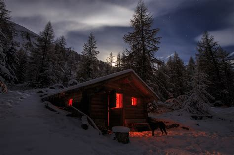 photography landscape nature winter cabin snow