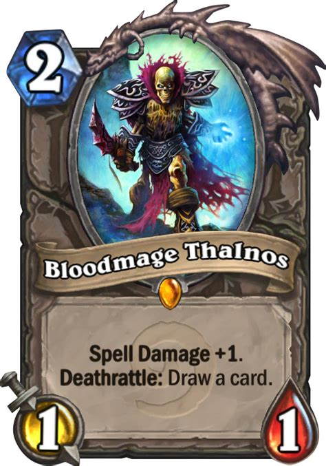Hearthstone Deathrattle Deck Mage by Bloodmage Thalnos Hearthstone Card
