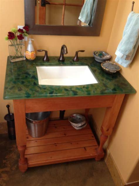 Sea glass resin countertop.   Furniture Ideas   Pinterest