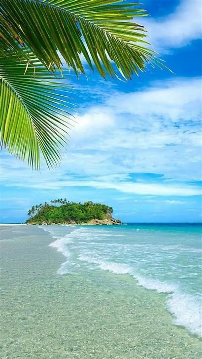 Beach Fiji Desktop Tropical Wallpapers Beaches Palm