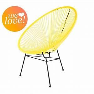 Fauteuil Acapulco Jaune : fauteuil acapulco jaune achat vente fauteuil jardin fauteuil acapulco jaune cdiscount ~ Teatrodelosmanantiales.com Idées de Décoration