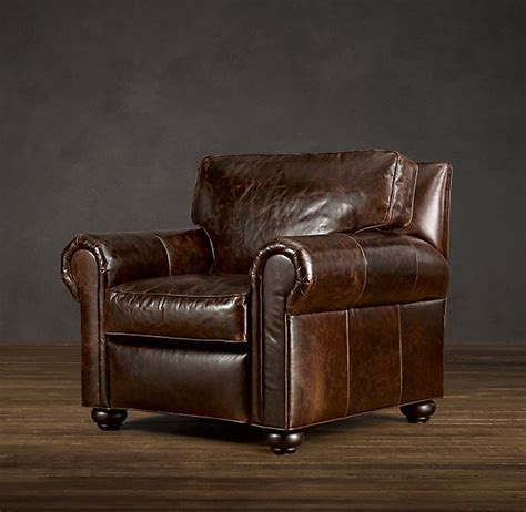 rh lancaster leather recliner home stuff