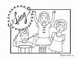 Coloring Singing Children Lord Clipart Pages Praising Church God Sunday Worship Preschool Printable Praise Sheets Bible Childrens Print Cartoon Kinder sketch template