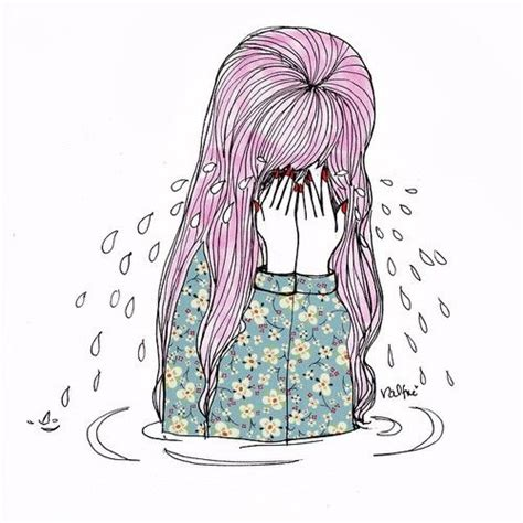 crying girl ideas  pinterest anime girl crying sad girl drawing  sad girl