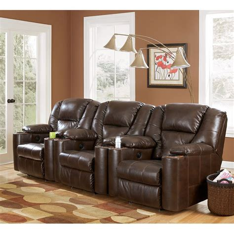 paramount durablend brindle modular theater seating signature design  ashley furniture