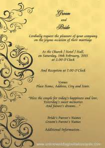 muslim wedding card wording wedding invitation designs templates search