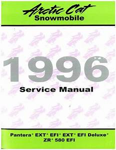 1996 Arctic Cat Pantera Ext Efi Ext Efi Deluxe Zr580 Efi Snowmobile Service Manual