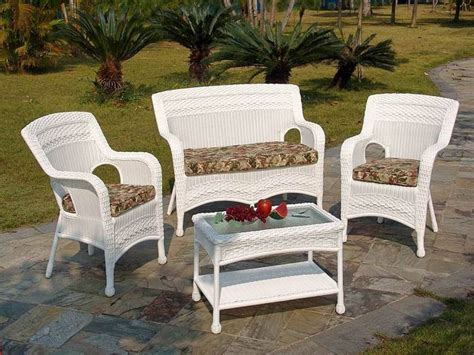 white resin wicker patio furniture clearance l i h 147