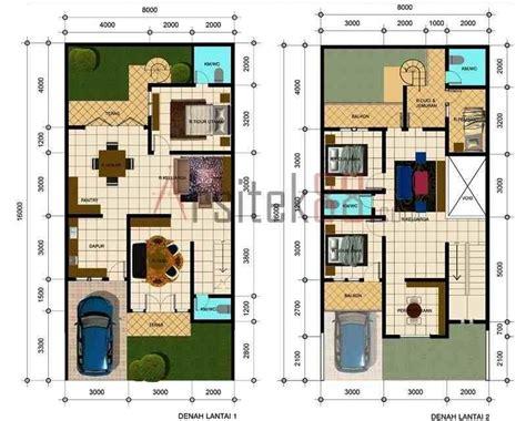 denah rumah sederhana  kamar tidur foto  gambar