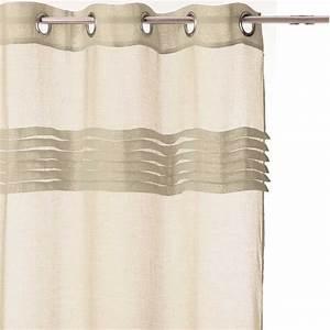 Rideau Voilage Lin : rideau voilage 140x240 lin ~ Teatrodelosmanantiales.com Idées de Décoration