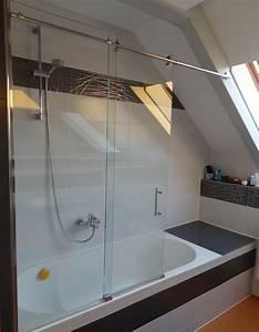 Duschtrennwand Badewanne Glas : duschabtrennung schiebet r auf badewanne ~ Michelbontemps.com Haus und Dekorationen