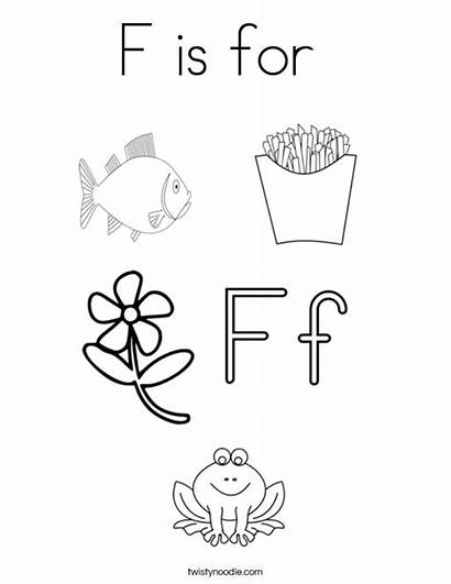 Coloring Pages Letter Flower Words Alphabet Colouring