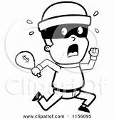 Coloring Running Clipart Burglar Bag Robber Cartoon Pages Cash Money Vector Criminals Royalty Cory Thoman Bank Robbers Outlined Rf Clipartpanda sketch template