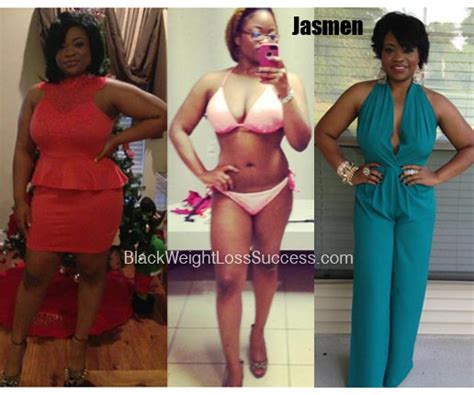 jasmen lost  pounds black weight loss success