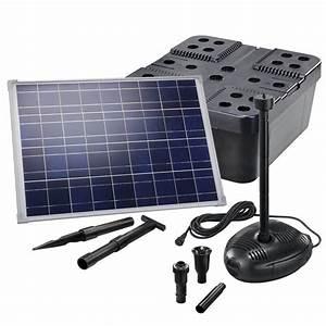 Pompe Bassin Solaire Jardiland : kit pompe solaire bassin avec filtre premium 1700l 50w solairepratique ~ Dallasstarsshop.com Idées de Décoration