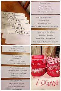 Valentineu002639s Scavenger Hunt I Left Him Clues In Envelopes