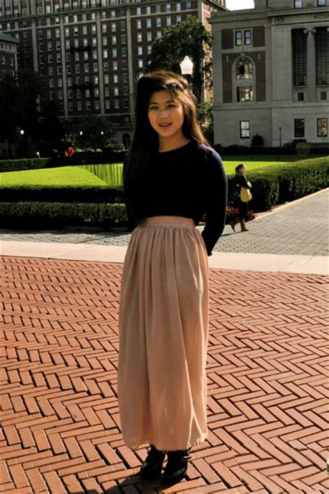 nude skirt grace columbia university campus