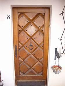 galerie de realisations de portes d39entree bois With porte entree bois massif