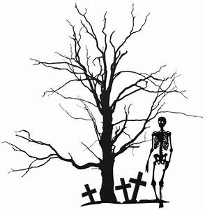Halloween Tree and Skeleton PNG Clipart Image | Gallery ...