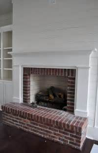 Shiplap with Brick and Fireplace