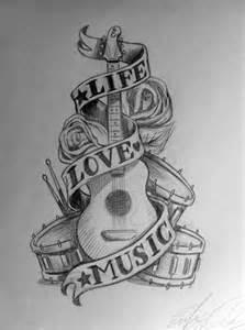 Music Tattoo Designs Drawings