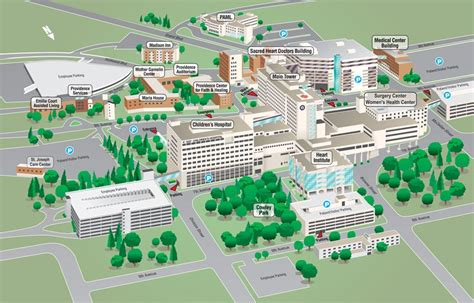 campus parking maps sacred heart childrens hospital