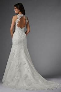 wtoo carla 15176 wedding dress halter straps beaded lace With keyhole wedding dresses