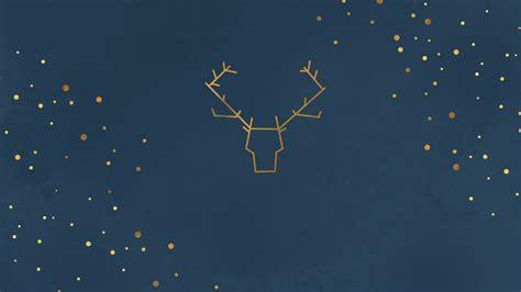 raindeer minimal christmas illustration desktop wallpaper