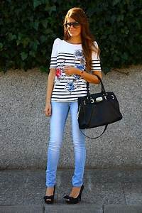 Jeans & High Heels fashion outfit street style jeans top ...