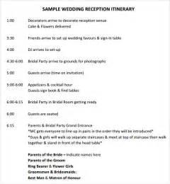 wedding timeline template wedding timeline template 9 free for pdf sle templates