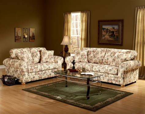 Patterned Loveseat by Floral Pattern Fabric Traditional Sofa Loveseat Set