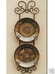 wrought iron french wall plate holder rack display cm ebay