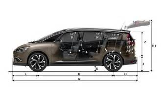 dimensions all new grand scenic cars renault uk